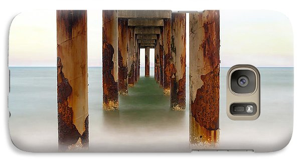 Galaxy Case featuring the photograph St. Augustine Beach Pier by Marion Johnson