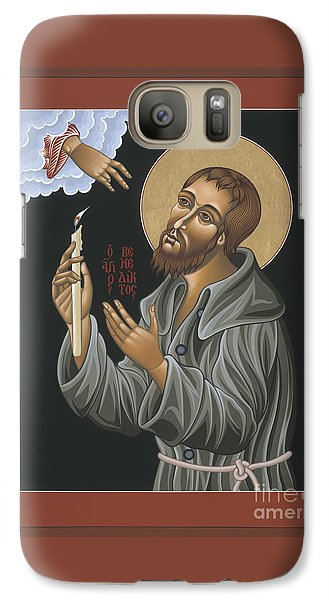 Galaxy Case featuring the painting St. Benedict Joseph Labre 062 by William Hart McNichols