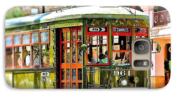 Galaxy Case featuring the photograph St. Charles Streetcar by Jim Albritton