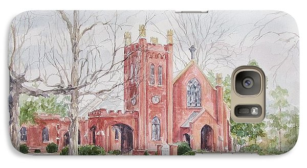 Galaxy Case featuring the painting St. David's Episcopal Church by Gloria Turner