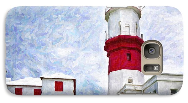 Galaxy Case featuring the photograph St. David's Lighthouse by Verena Matthew