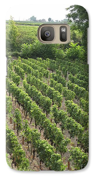 Galaxy Case featuring the photograph St. Emilion Vineyard by HEVi FineArt