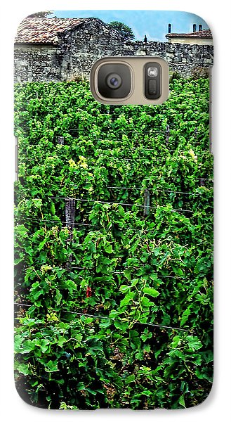 Galaxy Case featuring the photograph St. Emilion Winery by Joan  Minchak