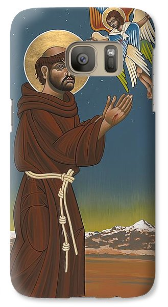 Galaxy Case featuring the painting St. Francis Patron Of Colorado 186 by William Hart McNichols