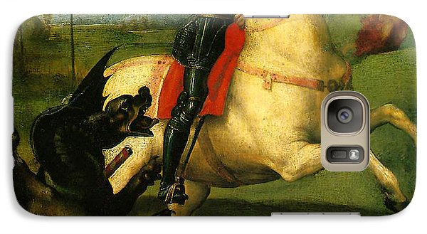 Galaxy Case featuring the digital art St George And Dragon Reproduction Art Work by Raphael