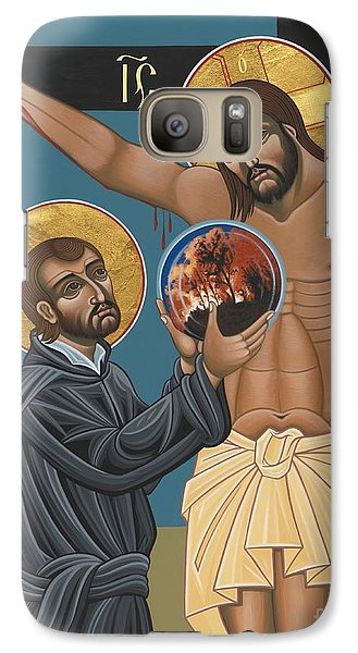 Galaxy Case featuring the painting St. Ignatius And The Passion Of The World In The 21st Century 194 by William Hart McNichols