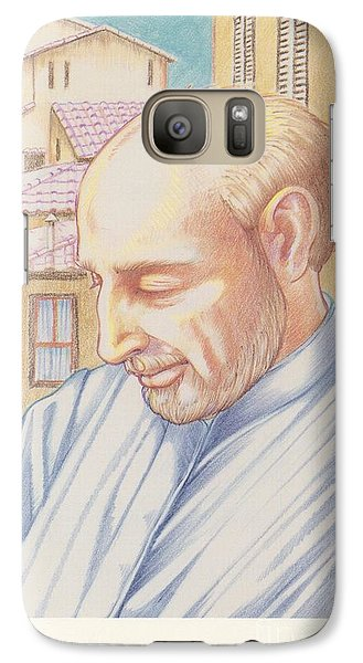 Galaxy Case featuring the painting St. Ignatius At Prayer In Rome by William Hart McNichols