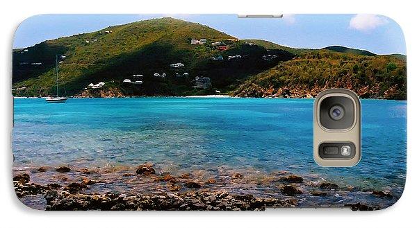 Galaxy Case featuring the digital art St John Bay by Kara  Stewart