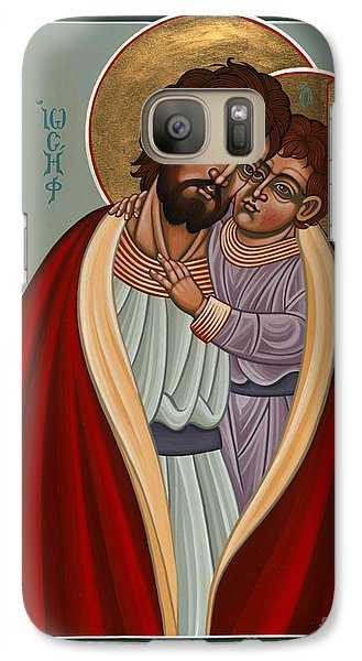Galaxy Case featuring the painting St. Joseph And The Holy Child 239 by William Hart McNichols
