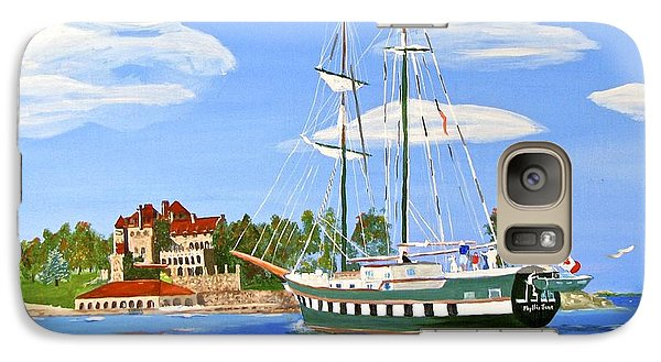 Galaxy Case featuring the painting St Lawrence Waterway 1000 Islands by Phyllis Kaltenbach