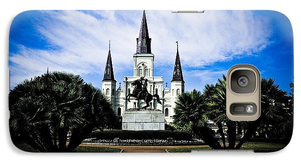 Galaxy Case featuring the photograph St Louis Cathedral In Jackson Square by Ray Devlin