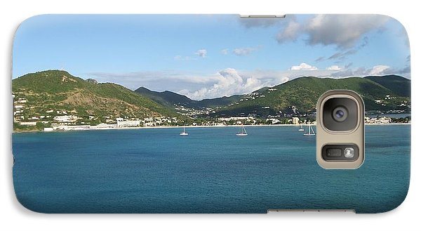 Galaxy Case featuring the photograph St Maarten At A Distance by Jean Marie Maggi