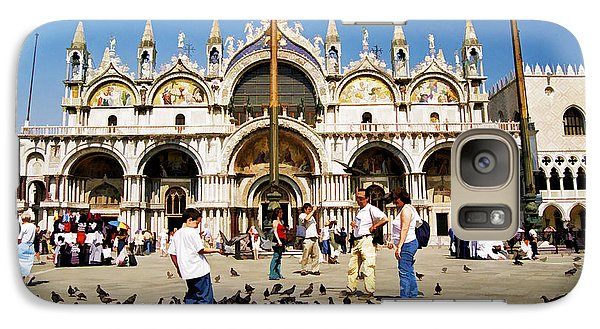 Galaxy Case featuring the photograph St. Mark's Basilica  by Allen Beatty