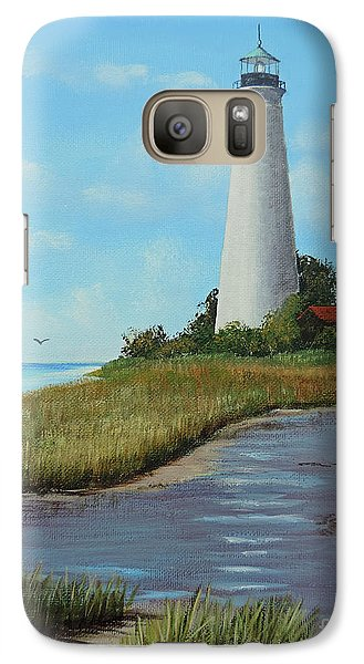Galaxy Case featuring the painting St. Mark's Lighthouse Painting by Jimmie Bartlett
