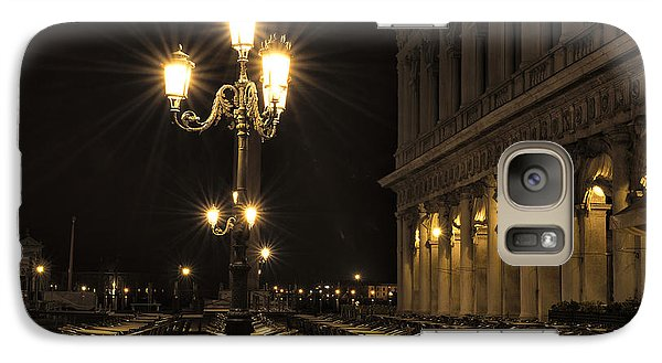 Galaxy Case featuring the photograph St Mark's Square At Night by Marion Galt