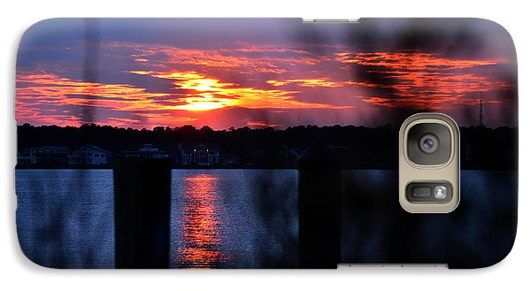 Galaxy Case featuring the photograph St. Marten River Sunset by Bill Swartwout