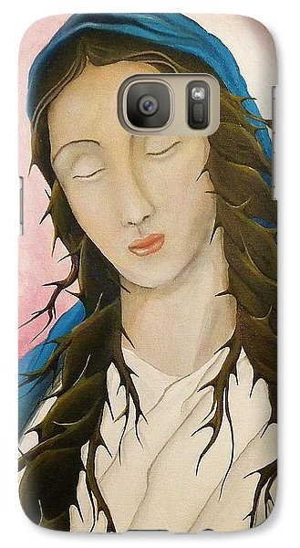 Galaxy Case featuring the painting St. Mary's Calvary by Edwin Alverio