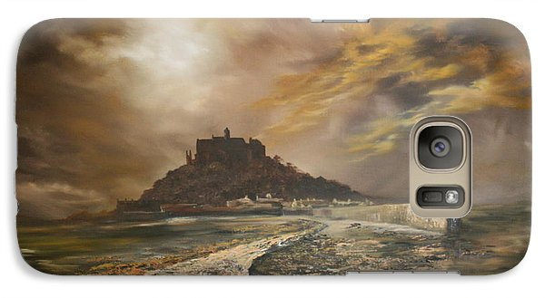 Galaxy Case featuring the painting St Michaels Mount Cornwall by Jean Walker