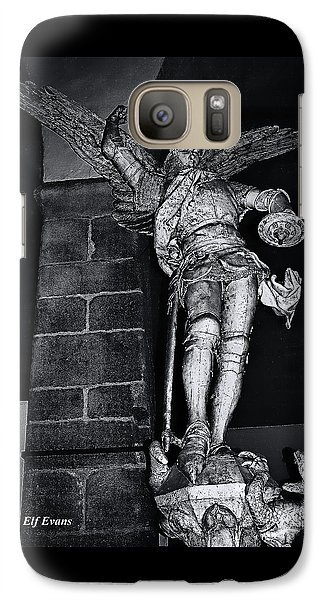Galaxy Case featuring the photograph St. Michel Slaying The Dragon by Elf Evans