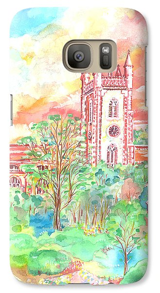 Galaxy Case featuring the painting St Peter's Church - St Albans by Giovanni Caputo