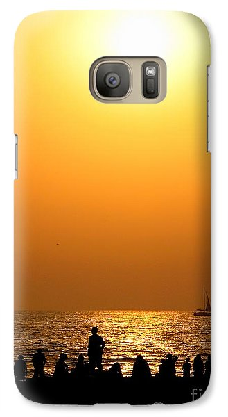 St. Petersburg Sunset Galaxy S7 Case by Peggy Hughes