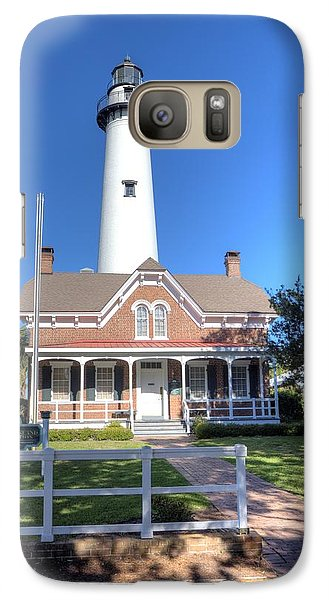 Galaxy Case featuring the photograph St. Simons Island Light Station by Gordon Elwell