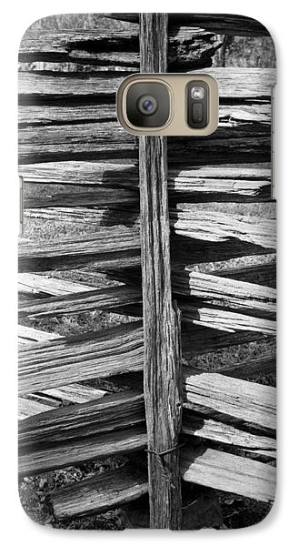 Galaxy Case featuring the photograph Stacked Fence by Lynn Palmer