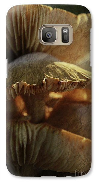Galaxy Case featuring the photograph Stacked Fungas by Lori Mellen-Pagliaro