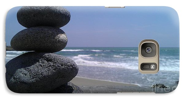 Galaxy Case featuring the photograph Stacked Rocks by Chris Tarpening