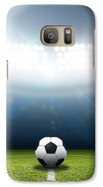 Stadium And Soccer Ball Galaxy Case by Allan Swart