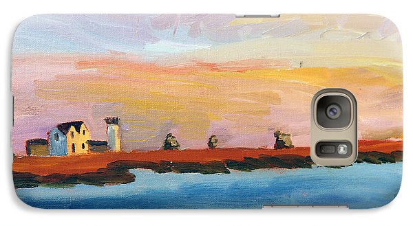 Galaxy Case featuring the painting Stage Harbor Sunset by Michael Helfen