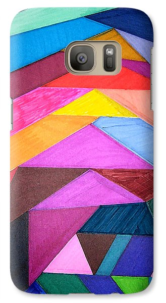 Galaxy Case featuring the drawing Stained Glass Abstract by Mary Bedy