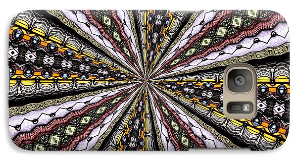Galaxy Case featuring the photograph Stained Glass Kaleidoscope 1 by Rose Santuci-Sofranko