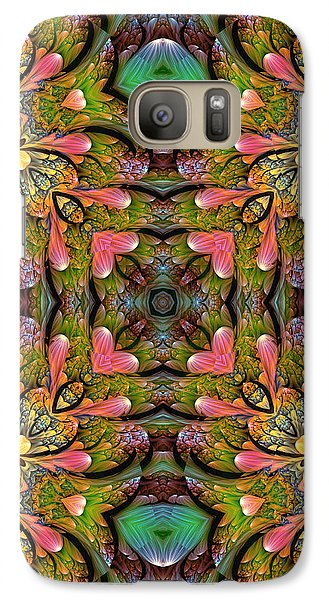 Galaxy Case featuring the digital art Stained Glass by Lea Wiggins