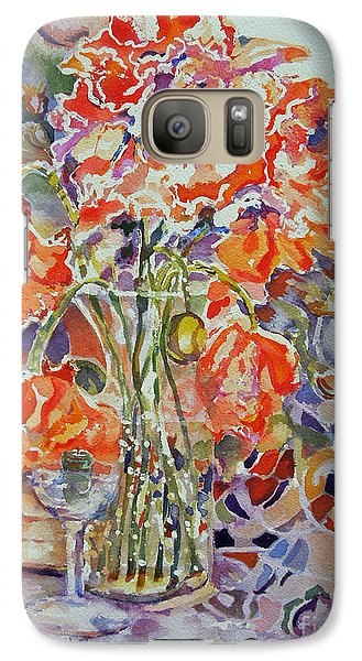 Galaxy Case featuring the painting Stained Glass by Mary Haley-Rocks