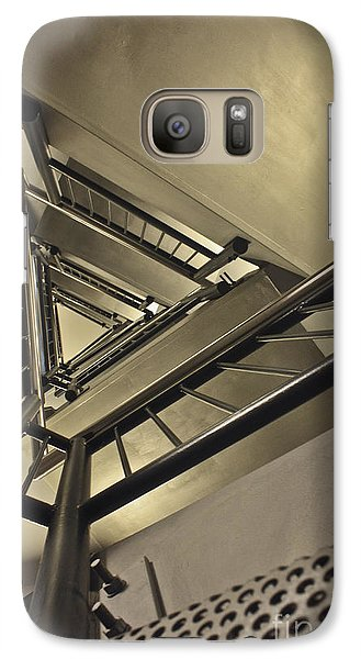 Galaxy Case featuring the photograph Stairing Up The Spinnaker Tower by Terri Waters