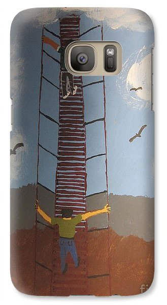 Galaxy Case featuring the painting Stairway To Heaven by Jeffrey Koss