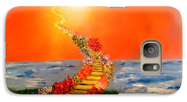 Galaxy Case featuring the painting Stairway To Heaven by Michael Rucker