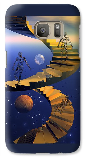 Galaxy Case featuring the digital art Stairway To Imagination by Claude McCoy