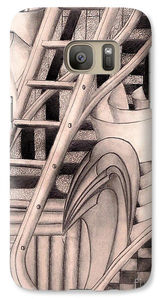 Galaxy Case featuring the drawing Stairway To.... by John Stuart Webbstock