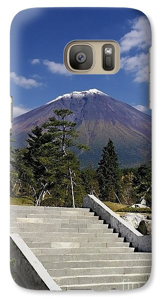Galaxy Case featuring the photograph Stairway To Mt Fuji by Ellen Cotton