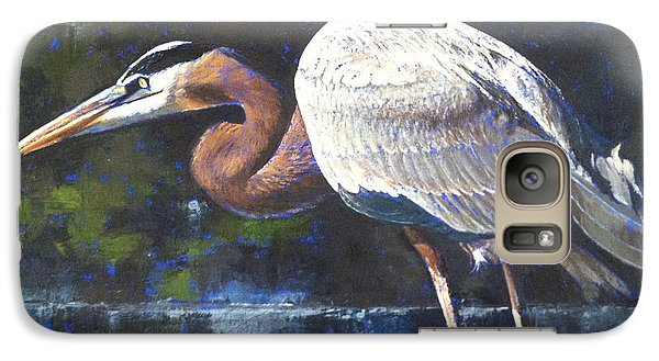Galaxy Case featuring the painting Stalking by Pam Talley