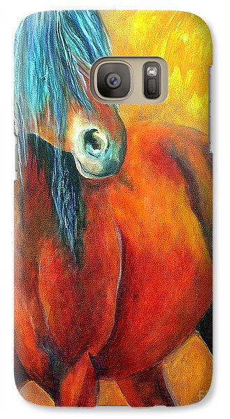 Galaxy Case featuring the painting Stallions Concerto  by Alison Caltrider