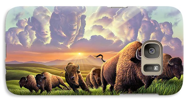 Bison Galaxy S7 Case - Stampede by Jerry LoFaro