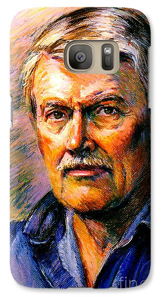 Galaxy Case featuring the painting Stan Esson Self Portrait by Stan Esson