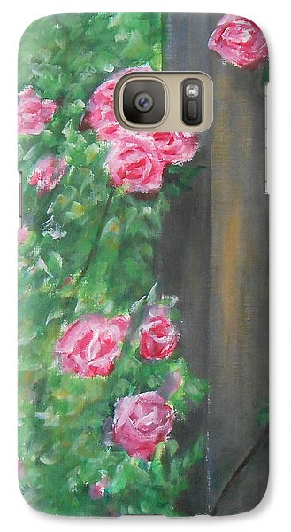 Galaxy Case featuring the painting Stand By Me by Jane  See