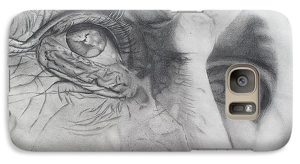 Galaxy Case featuring the drawing Stand Still And See by Wil Golden