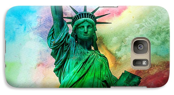 Statue Of Liberty Galaxy S7 Case - Stand Up For Your Dreams by Az Jackson