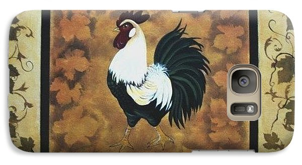 Galaxy Case featuring the painting Standing Guard In Fall by Cindy Micklos