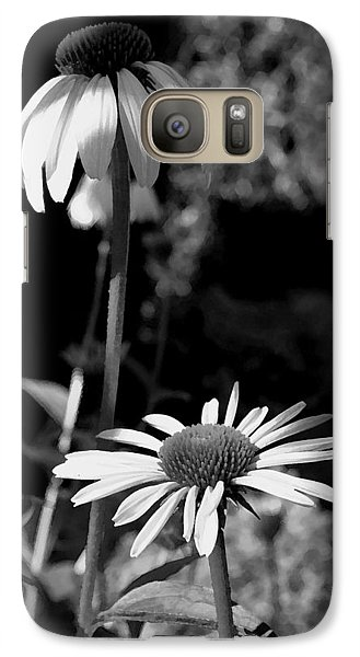 Galaxy Case featuring the photograph Coneflowers Standing Tall   by James C Thomas
